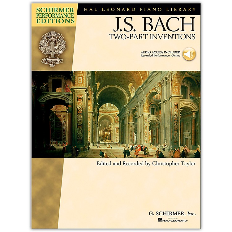 G. Schirmer Bach Two-Part Inventions Book/CD - Schirmer Performance Edition By Bach / Taylor