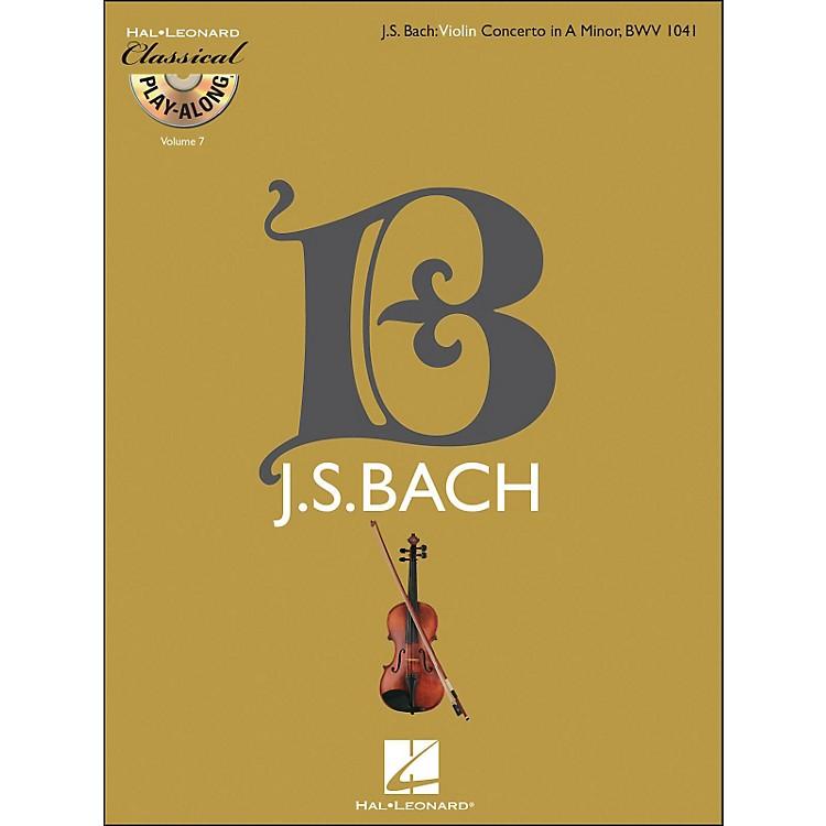 Hal LeonardBach: Violin Concerto In A Minor, Bwv 1041 Classical Play-Along Book/CD Vol. 7