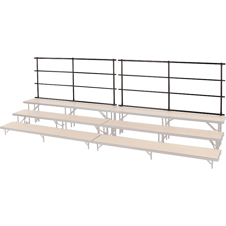 Midwest Folding Products Backrails for Standing Choral Risers for 4 Level Straight For 4 Level, Straight