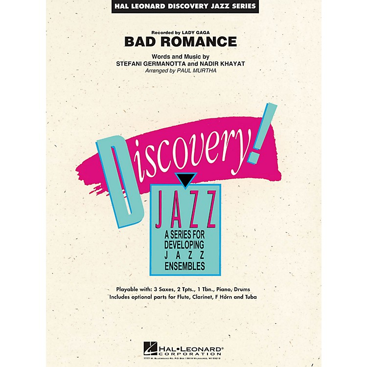 Hal Leonard Bad Romance - Discovery Jazz Series Level 1.5