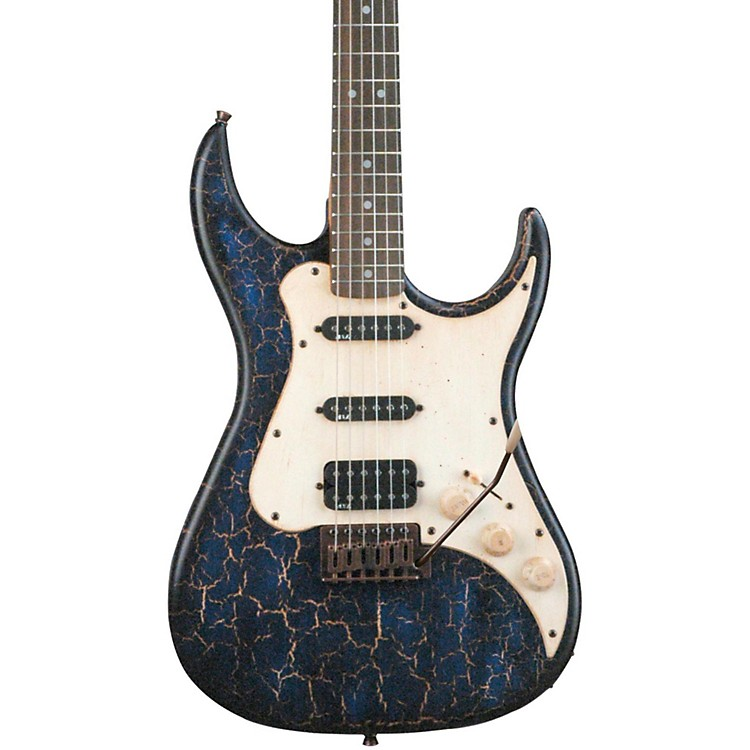 AXL Badwater SRO Electric Guitar Crackle Blue