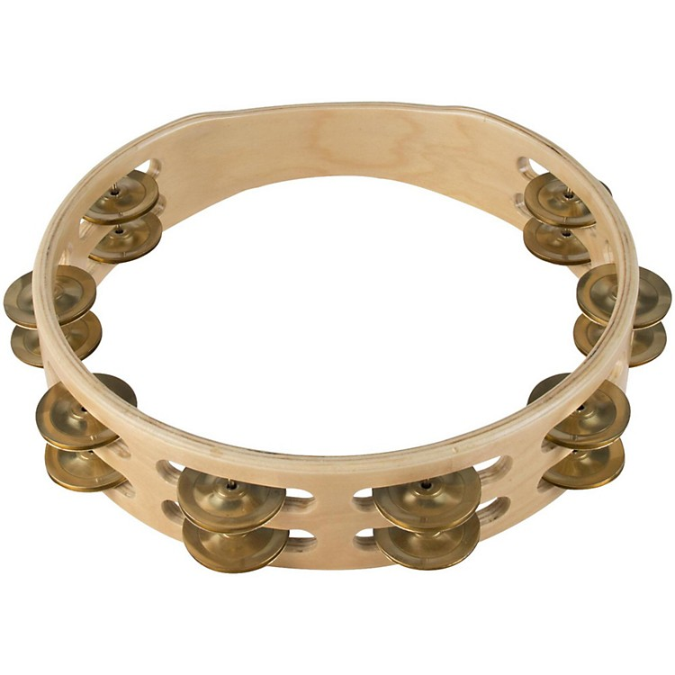 Sound Percussion Labs Baja Percussion Double Row Headless Tambourine with Brass Jingles 10 in. Natural
