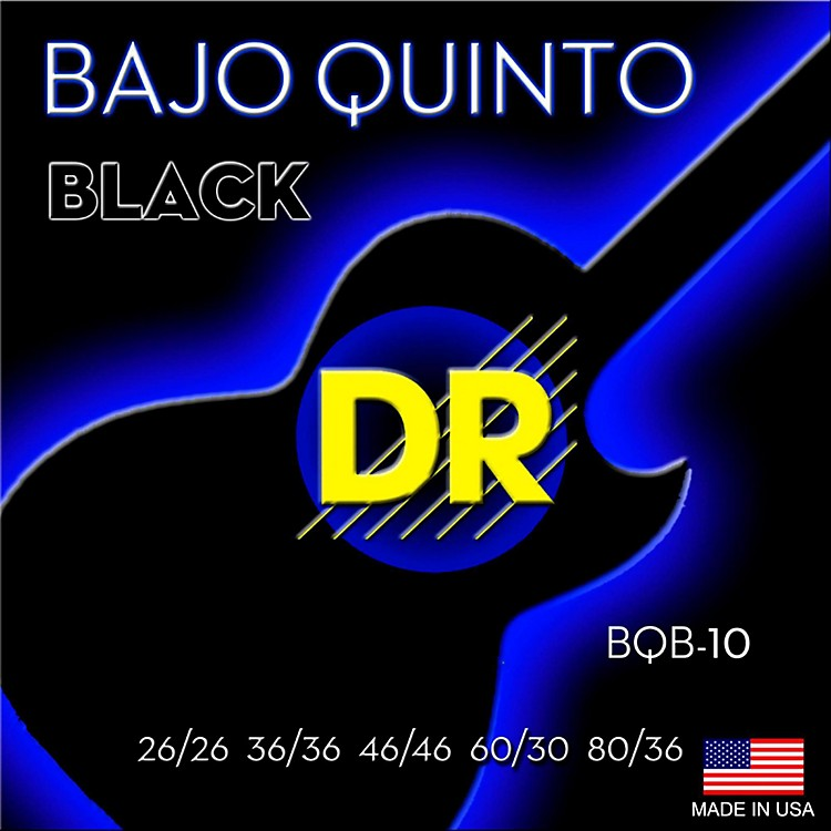 DR StringsBajo Quinto Black Coated 10 String