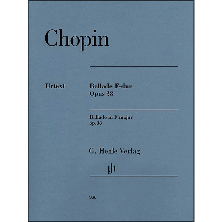 G. Henle Verlag Ballade in F Major, Op. 38 Piano Solo By Chopin