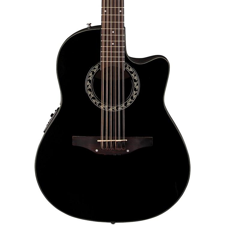 ApplauseBalladeer 12-String Mid Depth Bowl Acoustic-Electric GuitarBlack
