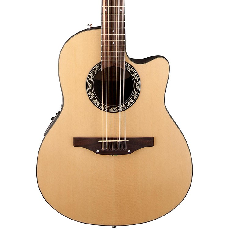 Applause Balladeer 12-String Mid Depth Bowl Acoustic-Electric Guitar Natural