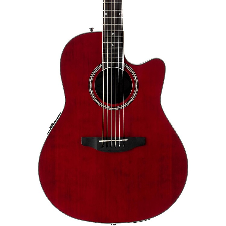 Applause Balladeer Series AB24II Acoustic-Electric Guitar Ruby Red