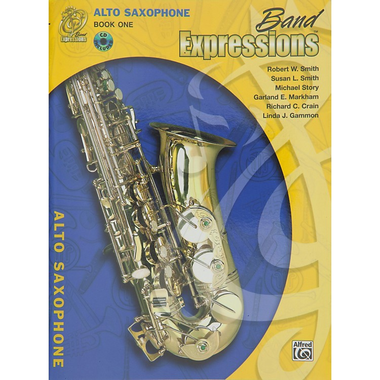 Alfred Band Expressions Book One Student Edition Alto Saxophone Book & CD