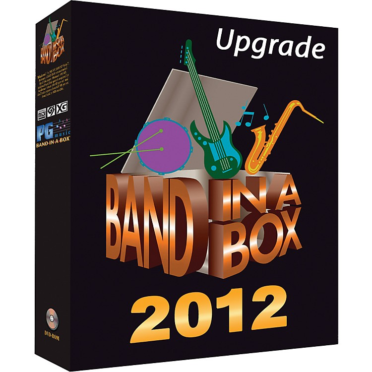 PG Music Band-in-a-Box 2012 Pro Windows Upgrade/Crossgrade from Any Version