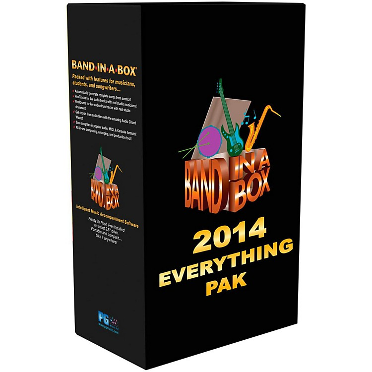 PG Music Band-in-a-Box 2014 EverythingPAK (Win-Portable Hard Drive)