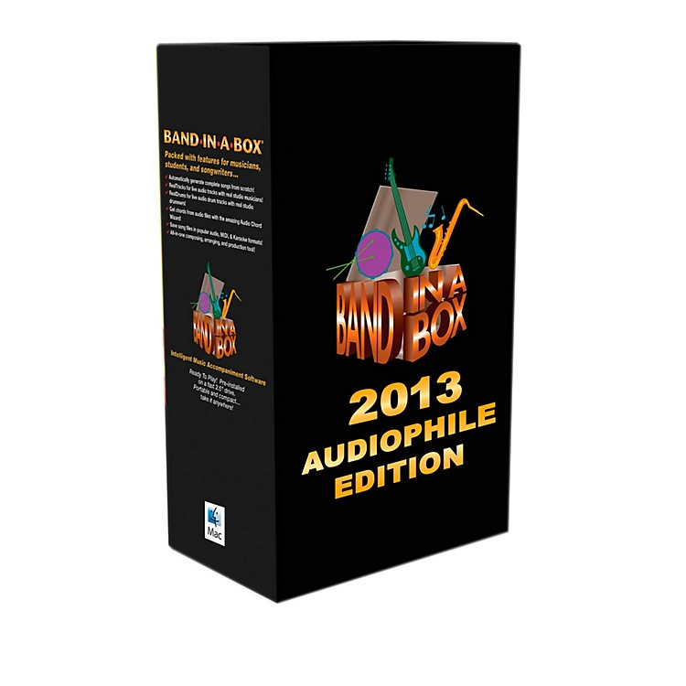 PG Music Band-in-a-Box Pro 2013 MAC Audiofile Edition (Mac-Hard Drive)