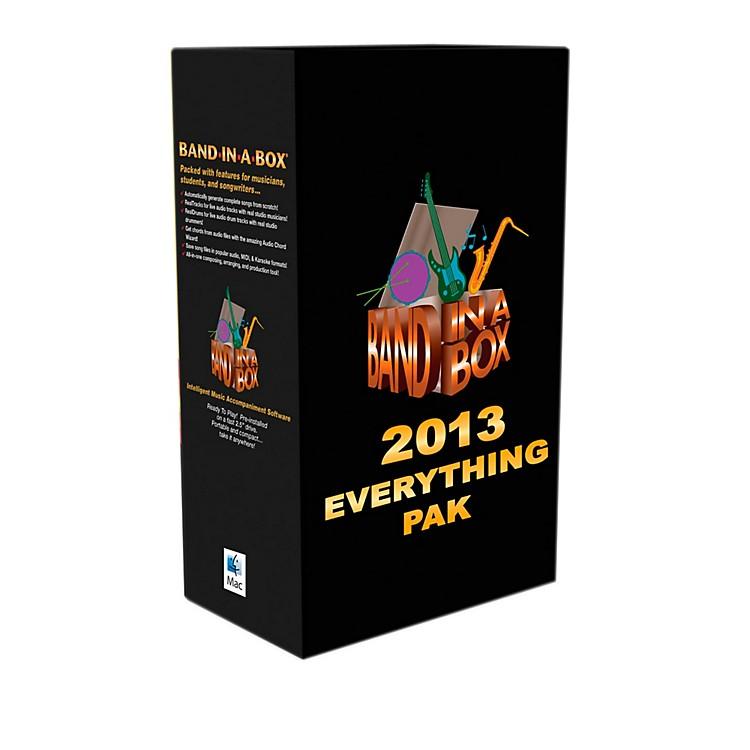 PG MusicBand-in-a-Box Pro 2013 MAC EverythingPAK (Mac-Hard Drive)