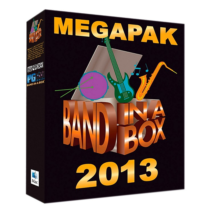 PG Music Band-in-a-Box Pro 2013 MAC MegaPAK (Mac-DVD)
