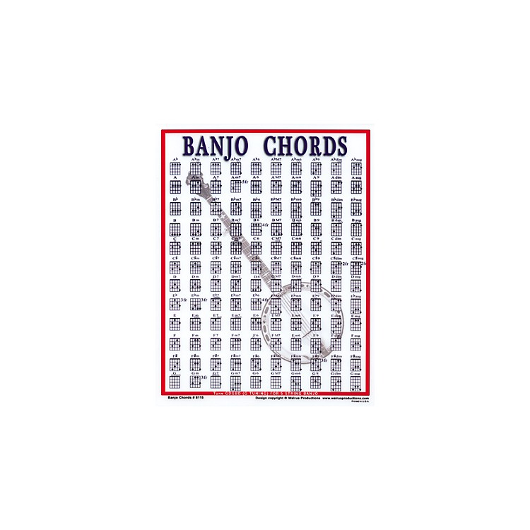 Walrus Productions Banjo Chord Mini Chart