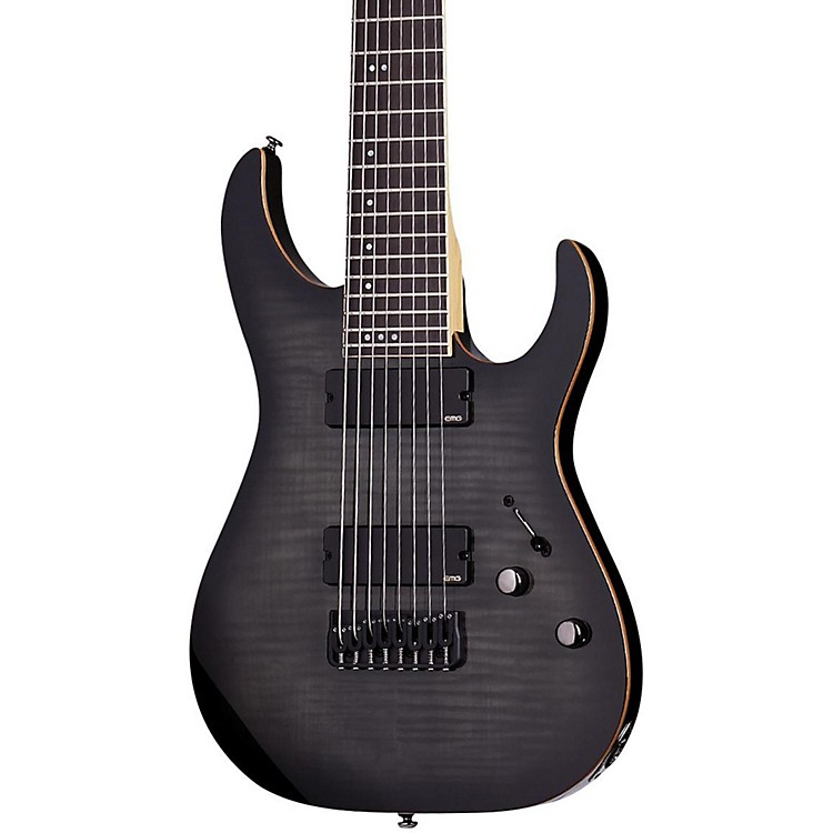 Schecter Guitar Research Banshee-8 8-String Active Electric Guitar Trans Black Burst