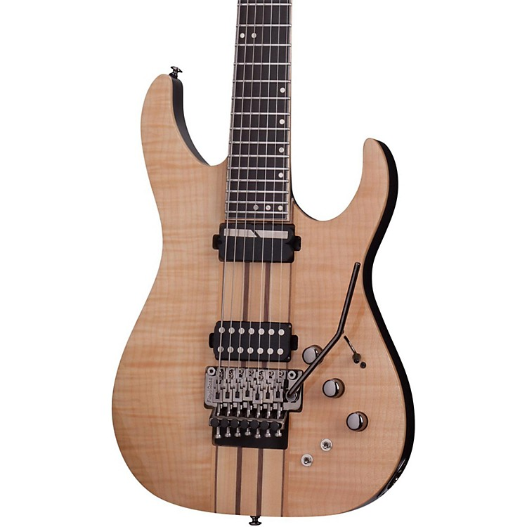 Schecter Guitar Research Banshee Elite-7 with Floyd Rose and Sustainiac Seven-String Electric Guitar Gloss Natural