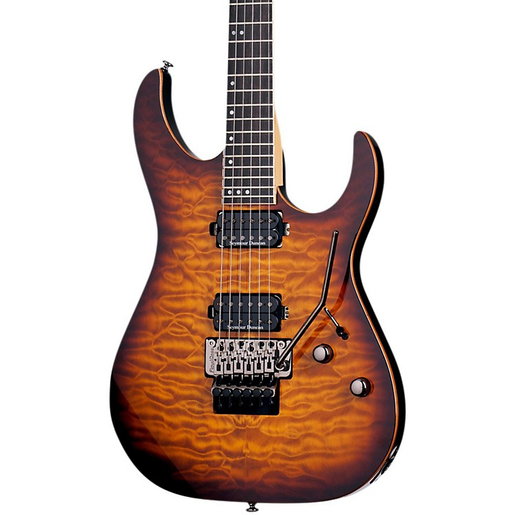 Schecter Guitar Research Banshee with Floyd Rose Passive Electric Guitar Faded Vintage Sunburst