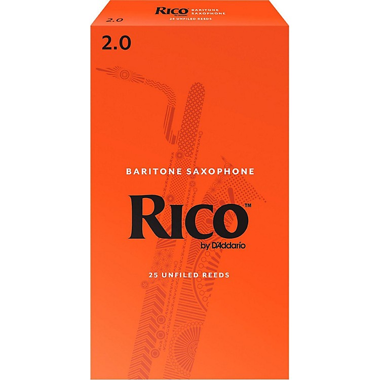 Rico Baritone Saxophone Reeds, Box of 25 Strength 2