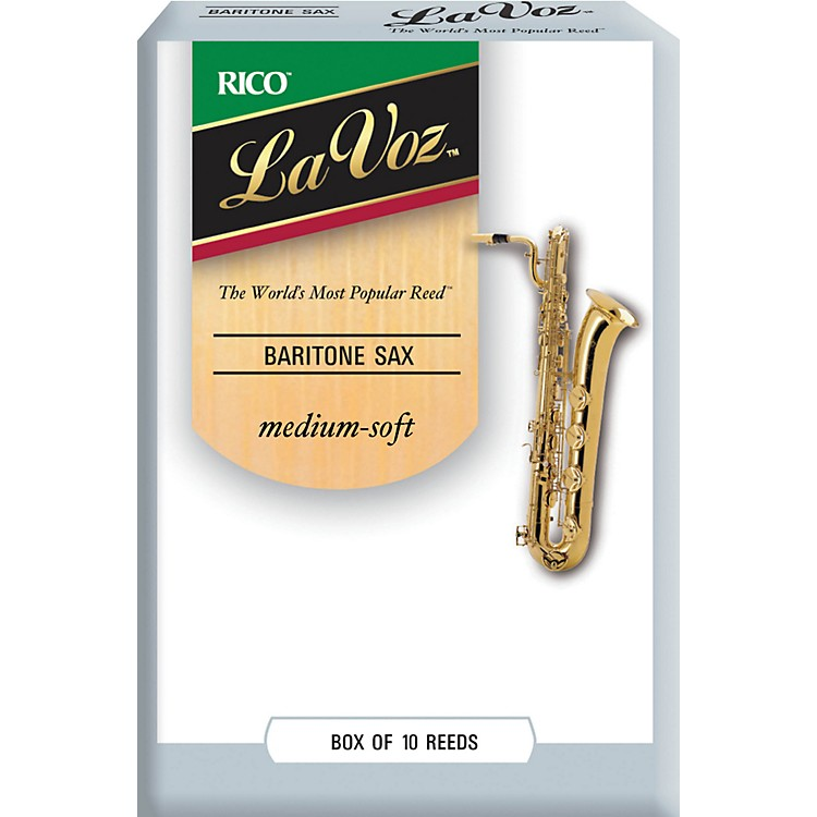 La Voz Baritone Saxophone Reeds Medium Soft Box of 10