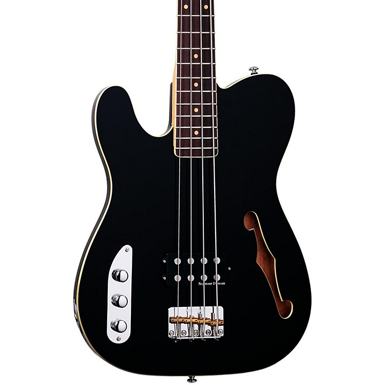 Schecter Guitar Research Baron-H Vintage Left-Handed Electric Bass Guitar Black