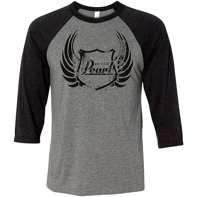 Pearl Baseball Tee Medium Black/Gray
