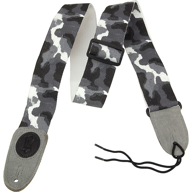 Levy's Basic Cotton Signature Series Guitar Strap with Suede Ends Artic Camoflauge