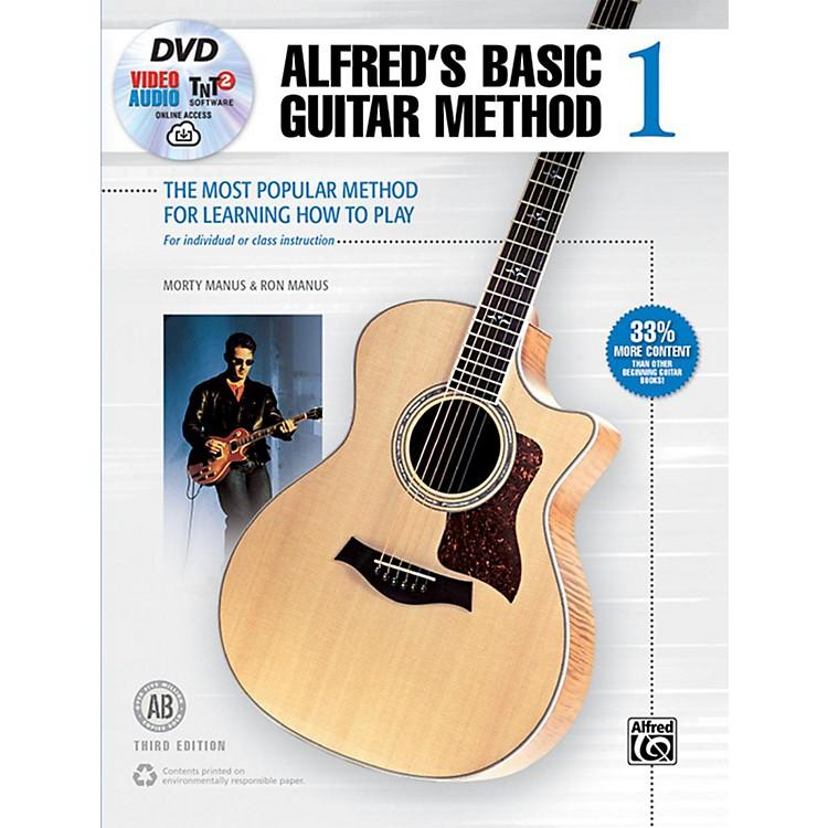 AlfredBasic Guitar Method 1 3rd Edition Book, DVD & Online Audio, Video & Software