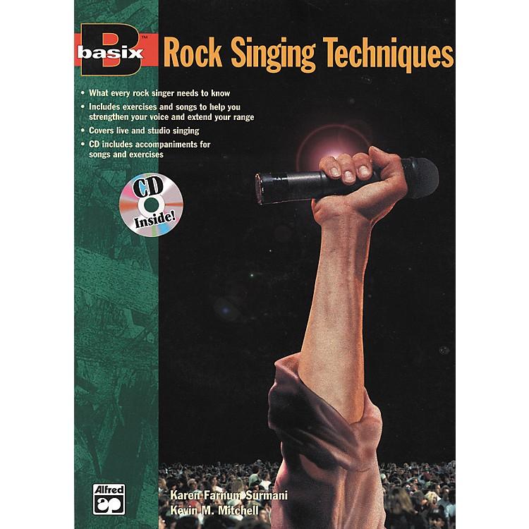 AlfredBasix Rock Singing Method Book/CD