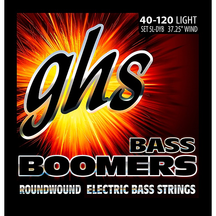GHSBass Boomers 5-String Roundwound Bass Strings (40-120)