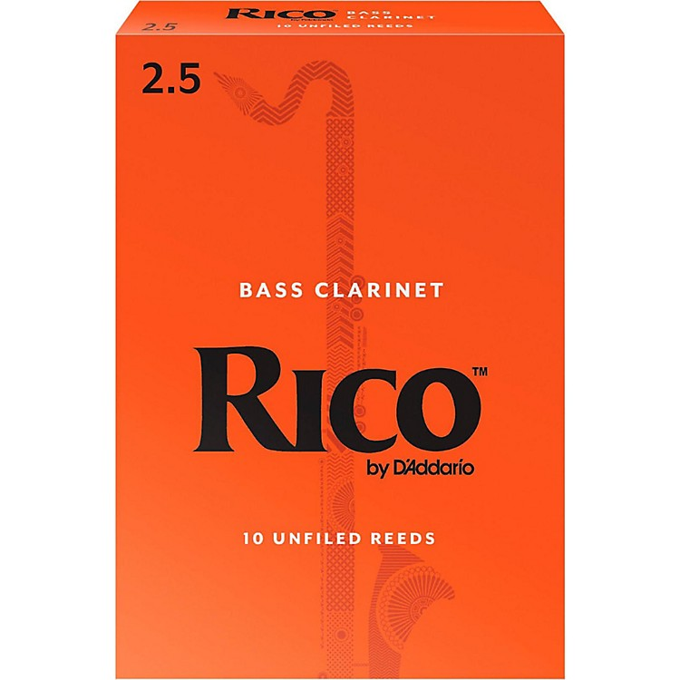 RicoBass Clarinet Reeds, Box of 10Strength 2.5