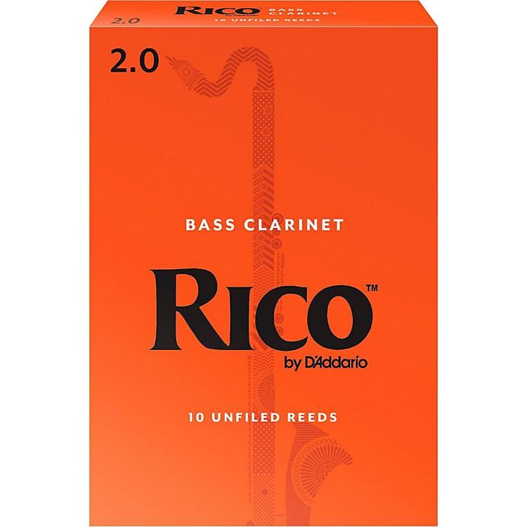 RicoBass Clarinet Reeds, Box of 10Strength 2
