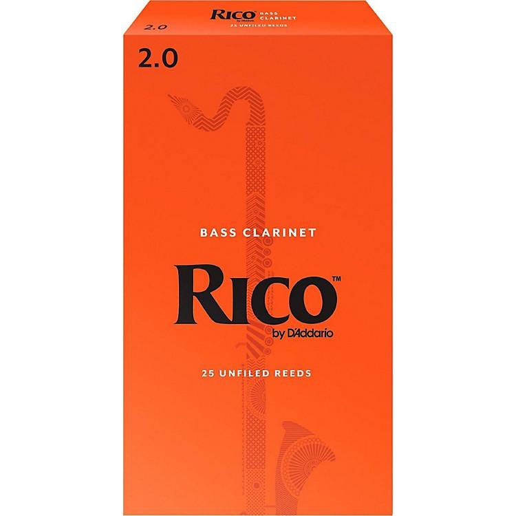 RicoBass Clarinet Reeds, Box of 25Strength 2
