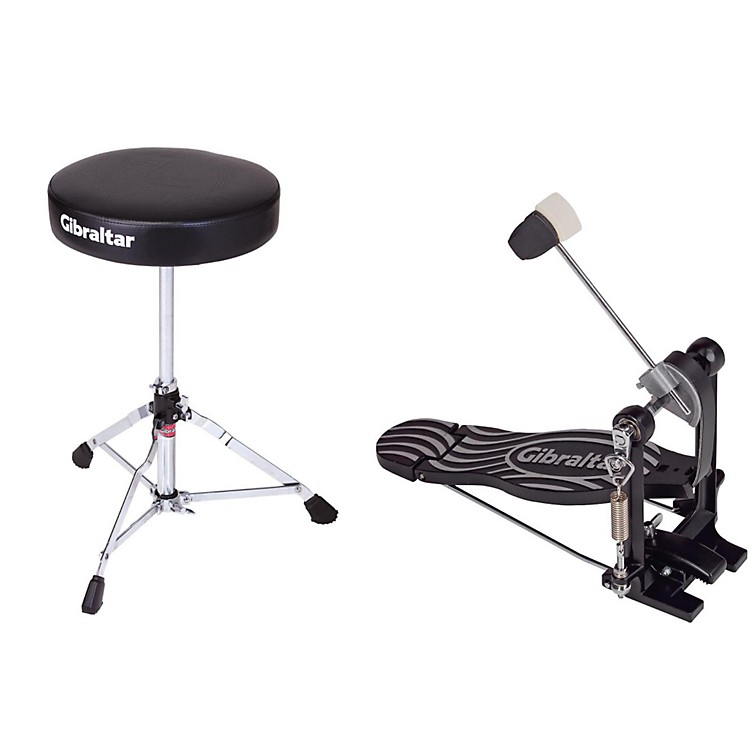 Gibraltar Bass Drum Pedal & Drum Throne Package