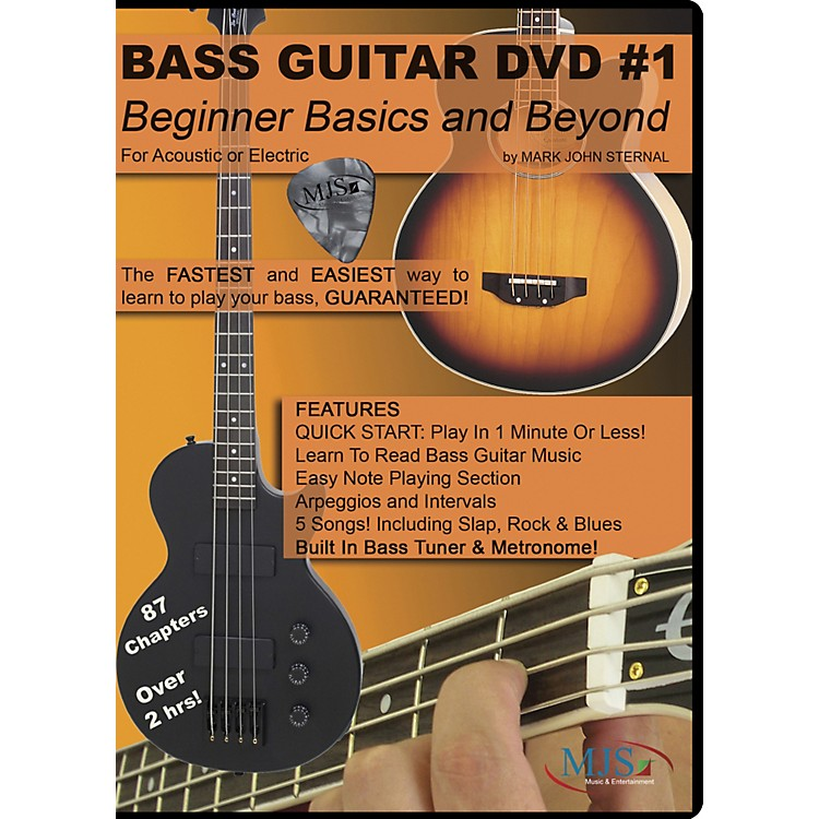 MJS Music Publications Bass Guitar DVD #1 - Beginner Basics and Beyond