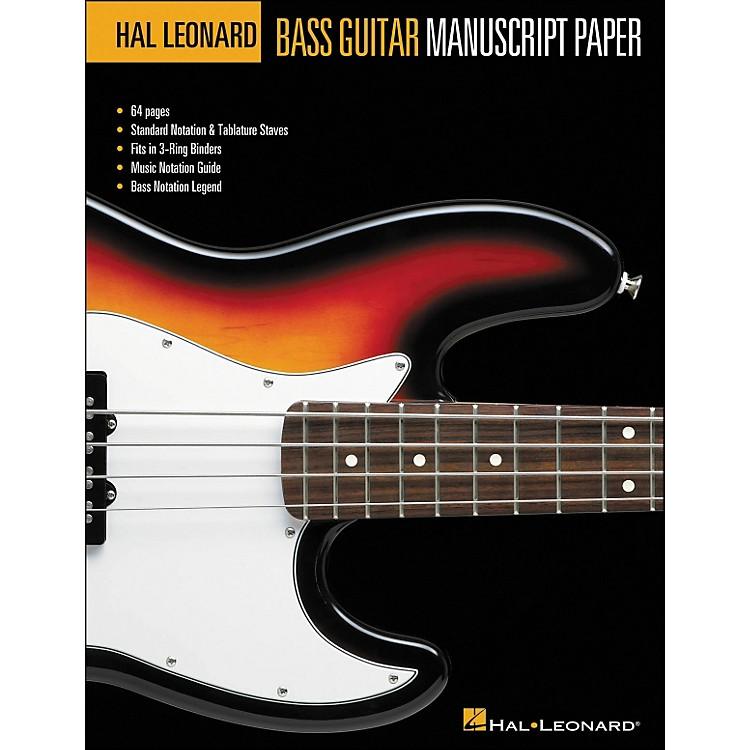 Hal LeonardBass Guitar Manuscript Paper (8.5 X11 )