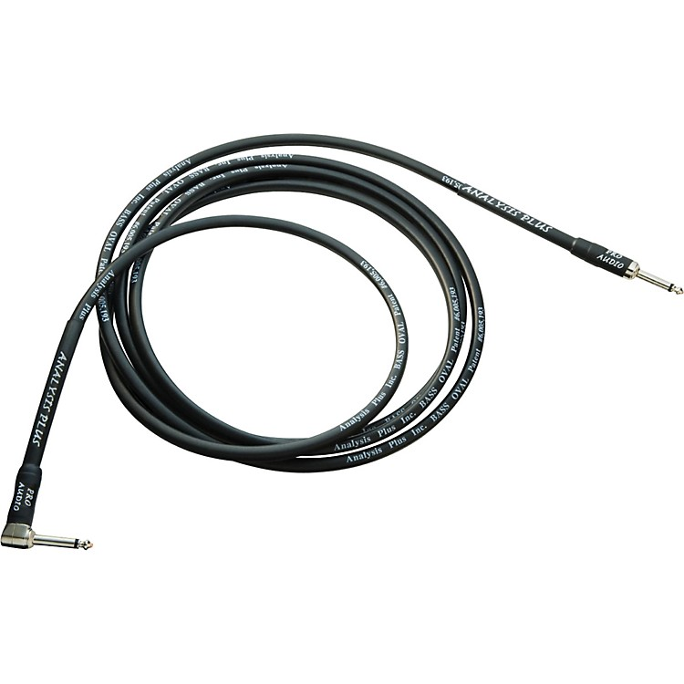 Analysis Plus Bass Oval Instrument Cable - Straight to Angled 50 ft.
