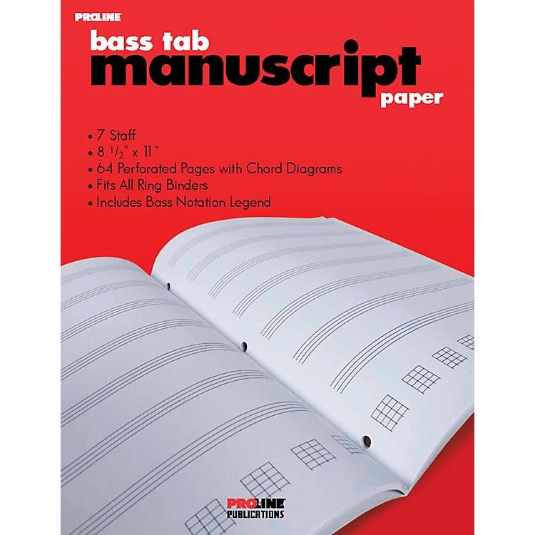 ProLineBass Tab Blank Manuscript Paper