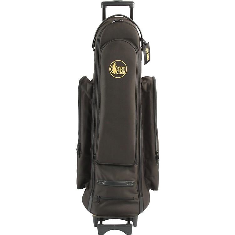 GardBass Trombone Wheelie Bag24-WBFSK BlackSynthetic w/ Leather Trim