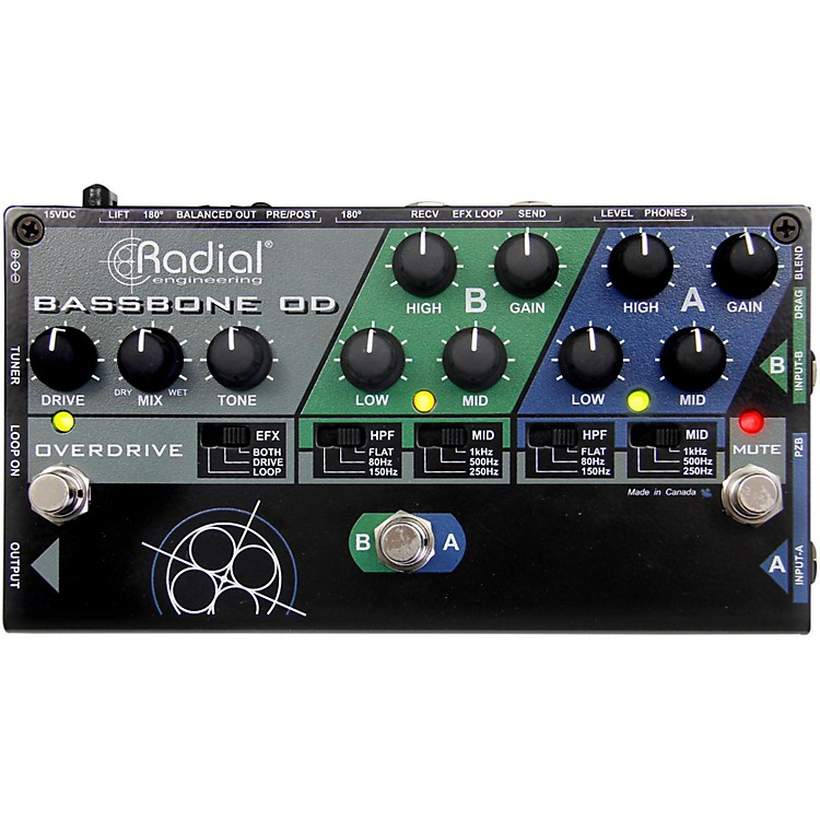 Radial EngineeringBassbone OD Bass Preamp With Overdrive