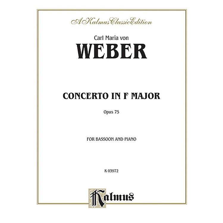 AlfredBassoon Concerto Op. 75 for Bassoon By Carl Maria von Weber Book