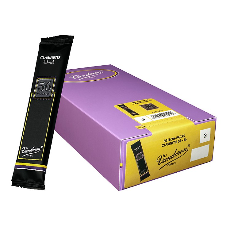 Vandoren Bb Clarinet 56 Rue Lepic Reed Box of 50 2.5 Box of 50
