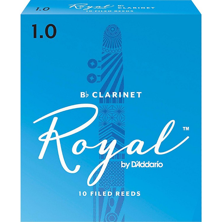 Rico Royal Bb Clarinet Reeds, Box of 10 Strength 1