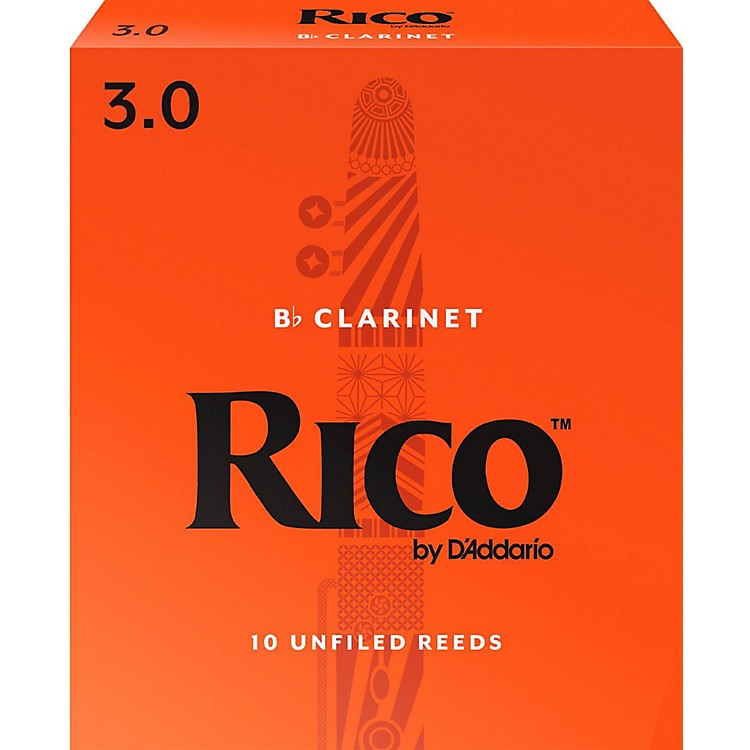 Rico Bb Clarinet Reeds, Box of 10 Strength 3