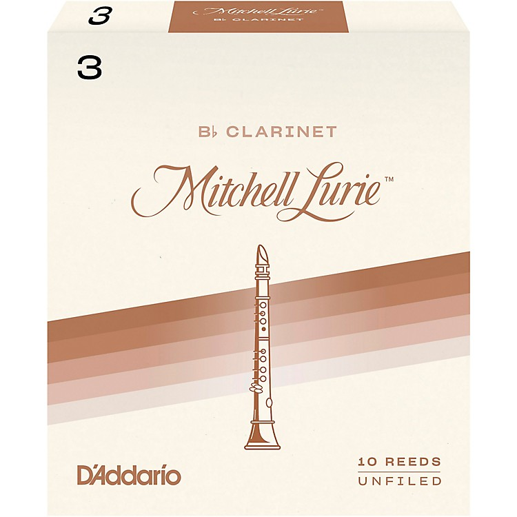 Mitchell Lurie Bb Clarinet Reeds Strength 3 Box of 10