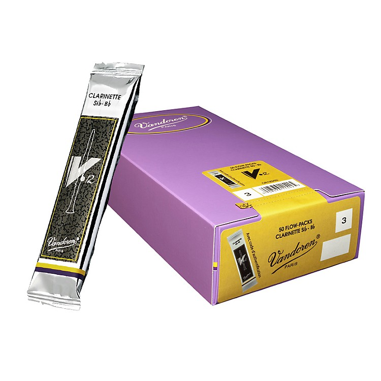 Vandoren Bb Clarinet V12 Reed Box of 50 2.5 Box of 50