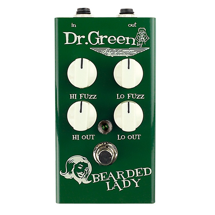 Dr. Green Bearded Lady Vintage Fuzz Guitar Effects Pedal