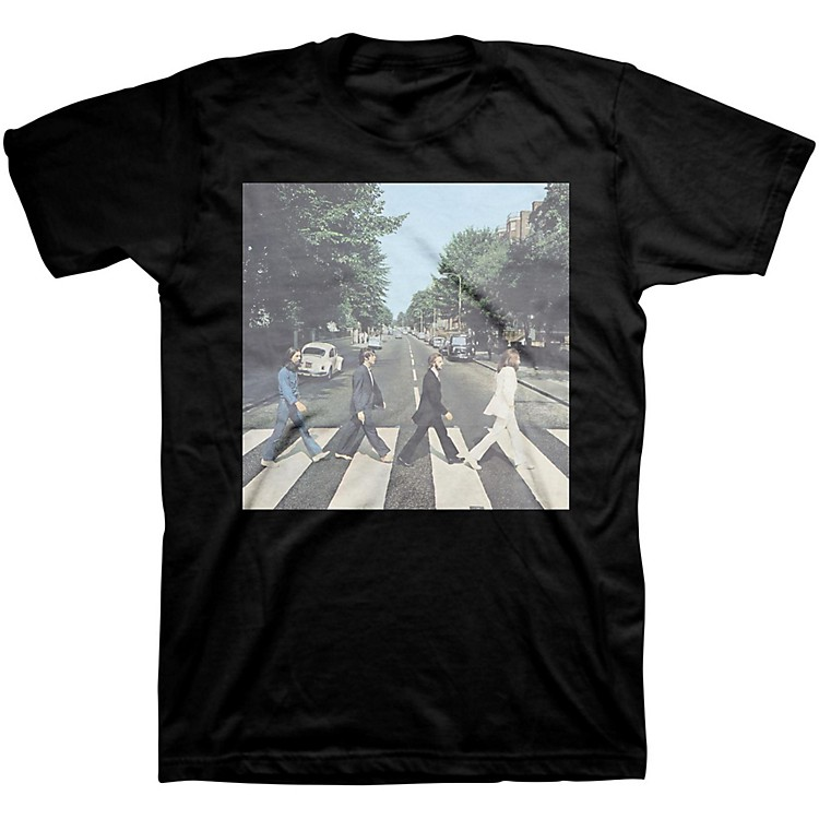Bravado Beatles Abbey Road Mens T-Shirt Black Medium
