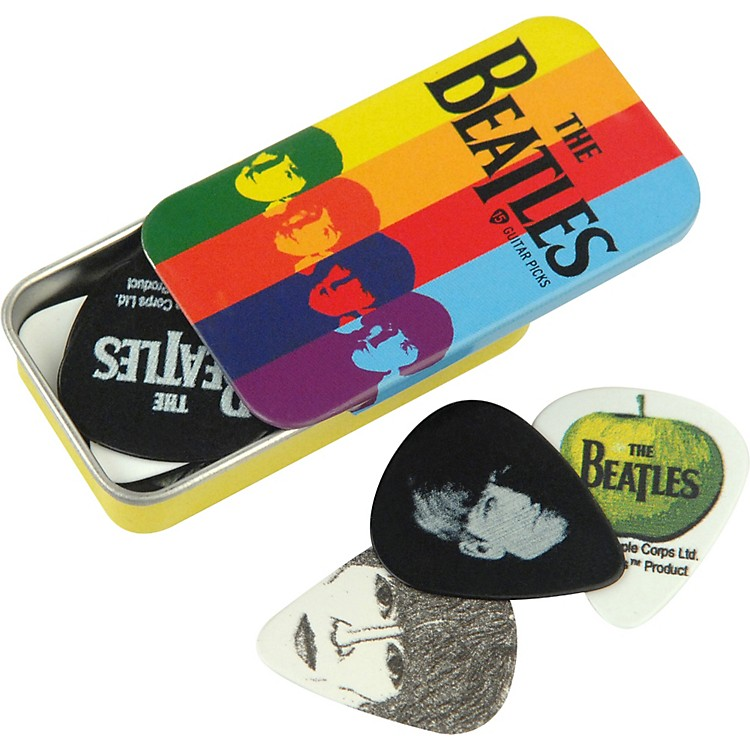 D'Addario Planet Waves Beatles Stripes Pick Tin - 15 Medium Picks