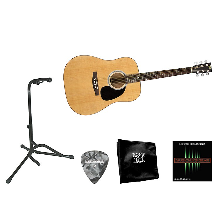 RogueBeginner Acoustic Dreadnought Guitar with Accessory Pack