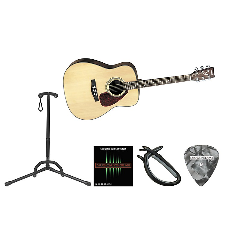 Yamaha Beginner Acoustic-Electric Guitar Bundle Natural